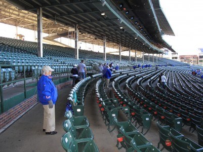 9577120-chicago-illinois--april-26-2010-ushers-and-obstructed-seating-at-the-wrigley-field-the-chicago-cubs-